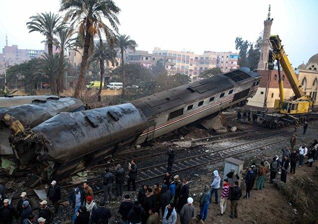 انقلاب قطار في مصر - أرشيفية