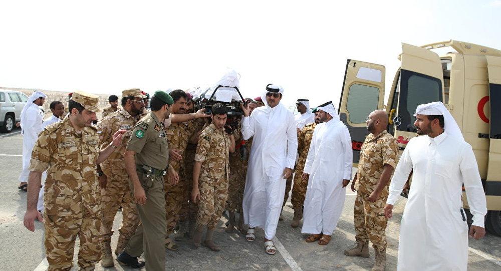 جنازة الجندي القطري