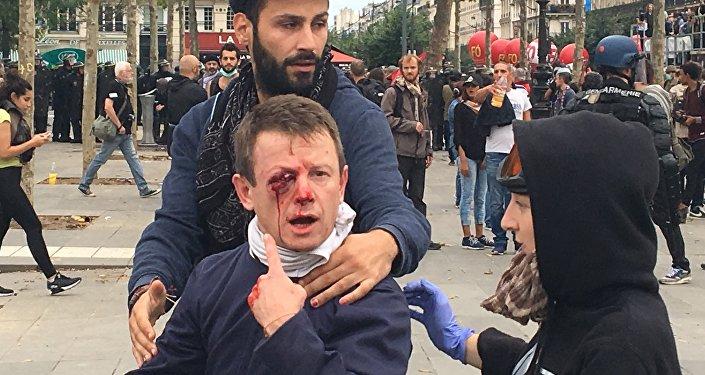 احتجاجات على قانون العمل في فرنسا