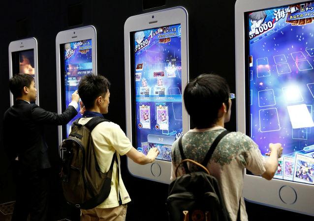 لعبة يوغي فى معرض طوكيو للألعاب