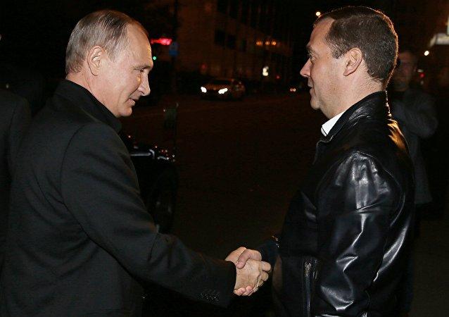 بوتين ومدفيديف