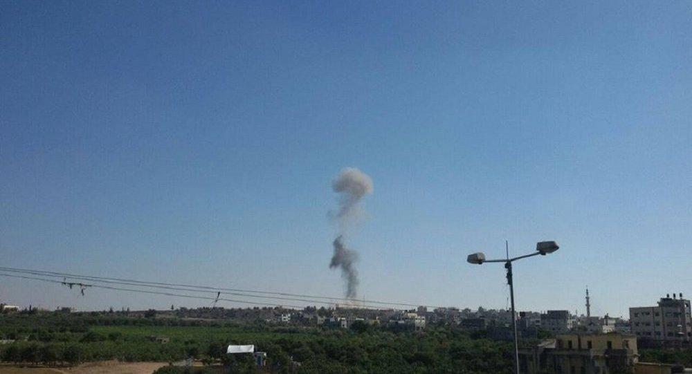 قصف إسرائيلي لقطاع  غزة