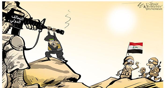 التحالف الدولي يقصف الحشد العشائري
