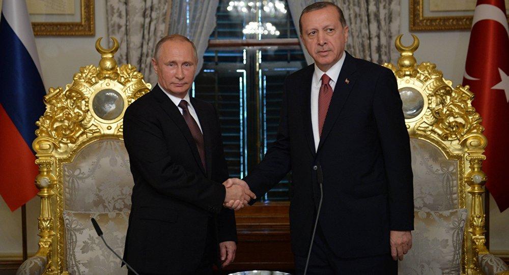 الرئيسين الروسي فلاديمير بوتين والتركي رجب طيب أردوغان