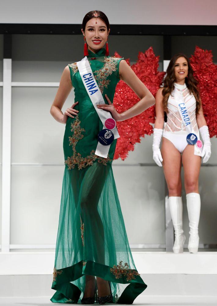 المسابقة الدولية لـ ملكة الجمال في طوكيو لعام 2016، الصينية زيو خينا وزيها الوطني، 11 أكتوبر/ تشرين الأول 2016