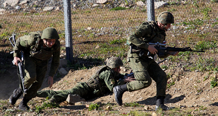 تدريب قوات مكافحة الإرهاب في روسيا