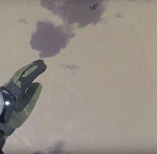 انزال القوات الروسية والمصرية فى الصحراء