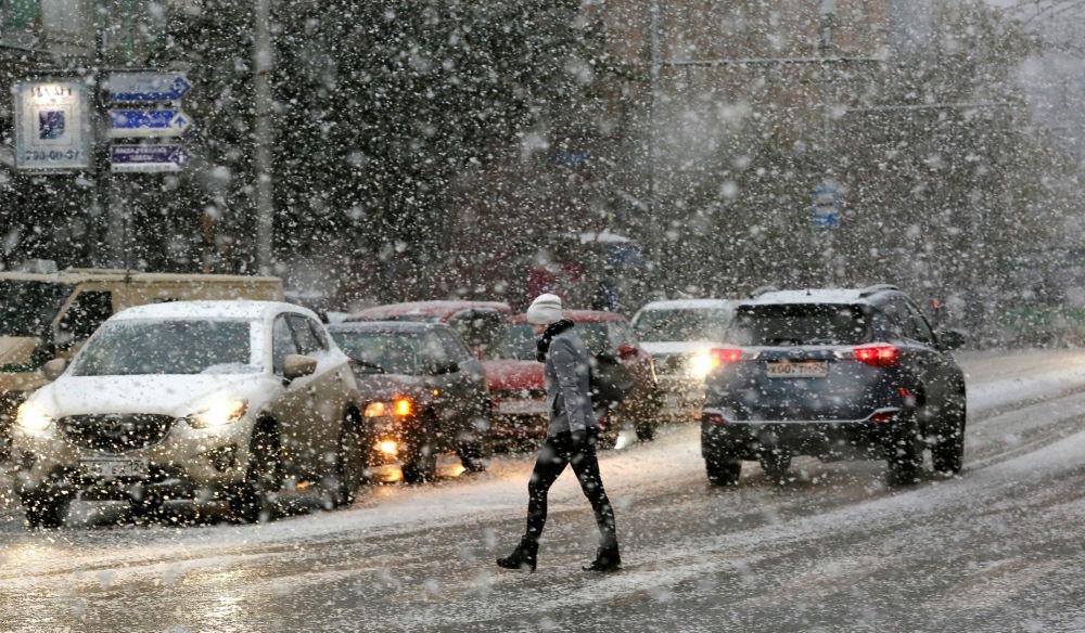 سقوط الثلج فى روسيا