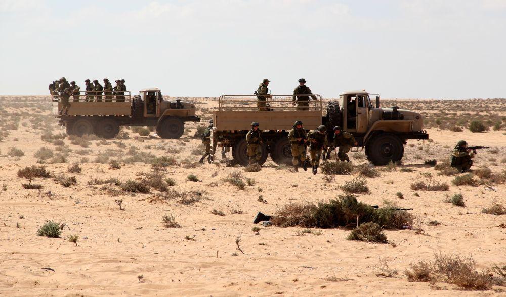 القوات الروسية والمصرية خلال مناورات حماه الصداقة - 2016