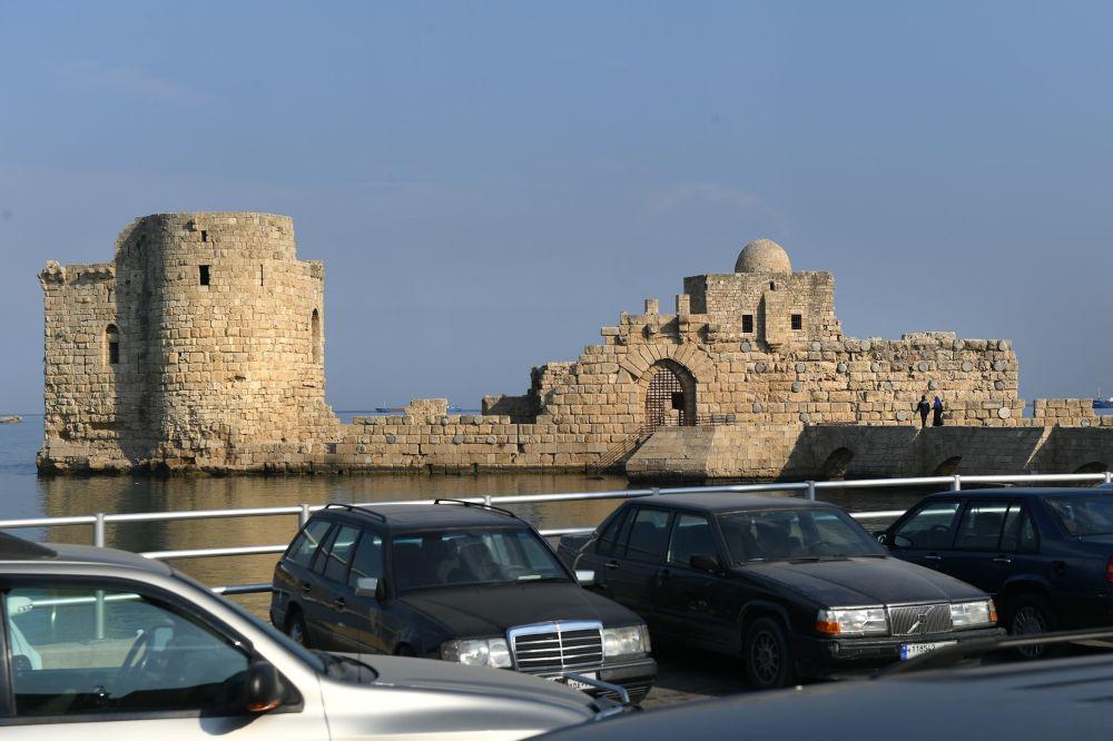 القلعة البحرية بمدينة صيدا