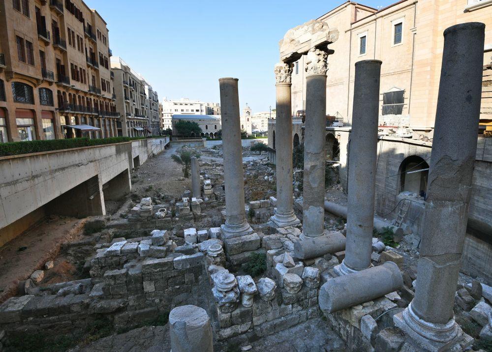 آثار الحضارة الرومانية وسط مدينة بيروت