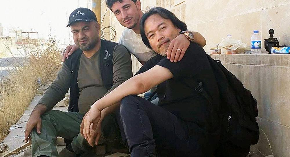 صحفي ياباني في الموصل
