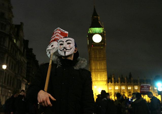 مسيرة احتجاج في لندن