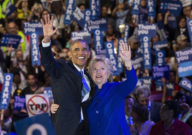 هيلاري كلينتون وباراك أوباما