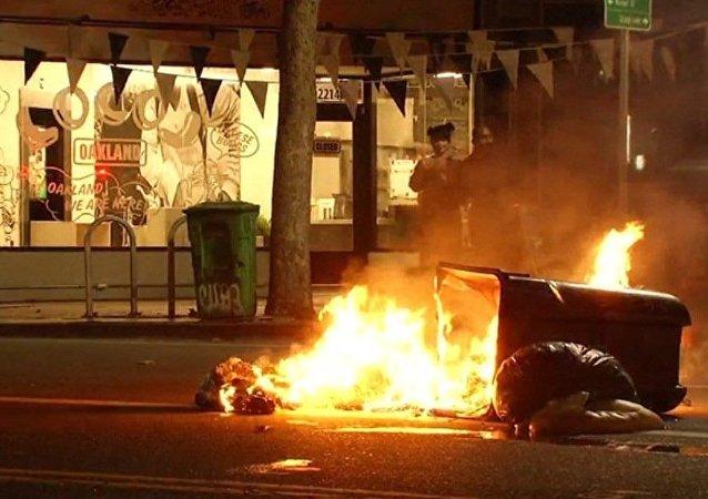 مظاهرات في أوكلاند