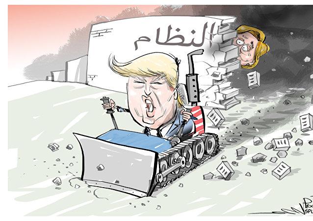 دونالد ترامب يهدم جدار النظام الأسبق