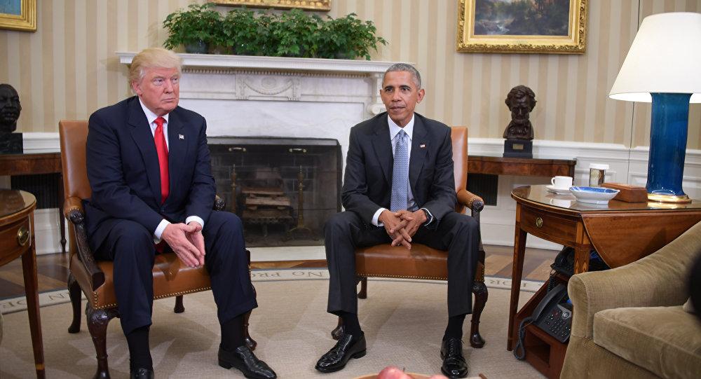 الرئيس المنتخب دونالد ترامب والرئيس الحالي باراك أوباما
