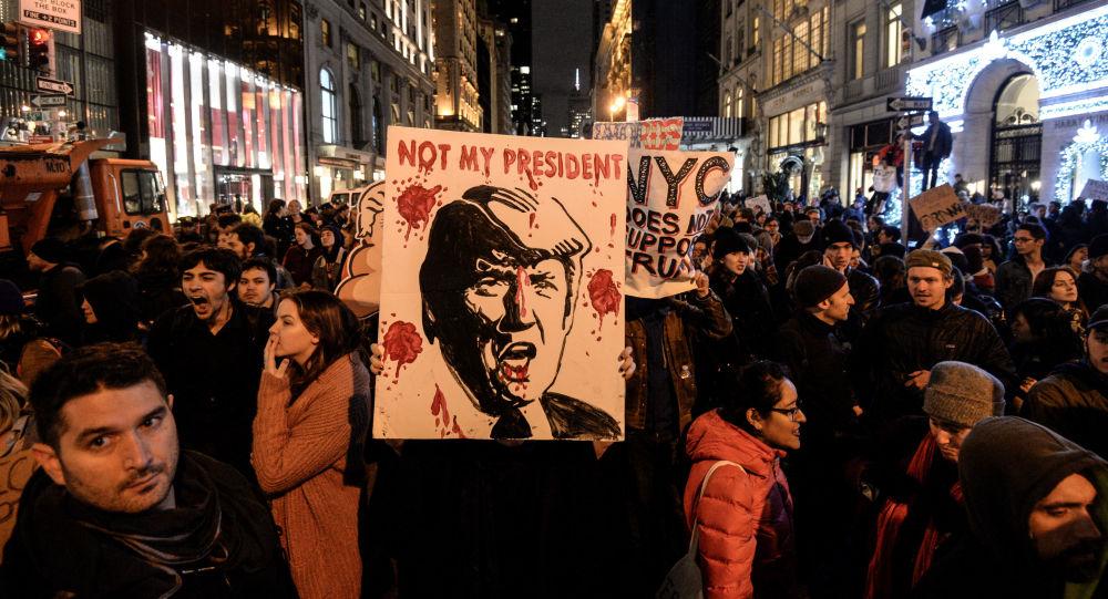 تظاهرة مناهضة لترامب في نيويورك