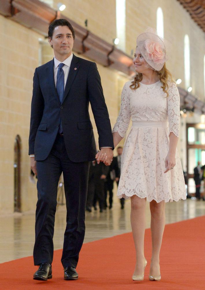 السيدة الأولى صوفي غريغوار، زوجة رئيس الوزراء الكندي جاستن ترودو، 2015