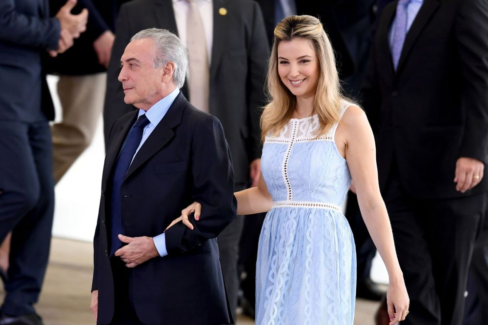 السيدة الأولى مارسيلا، زوجة الرئيس البرازيلي ميشال تامر، 2016