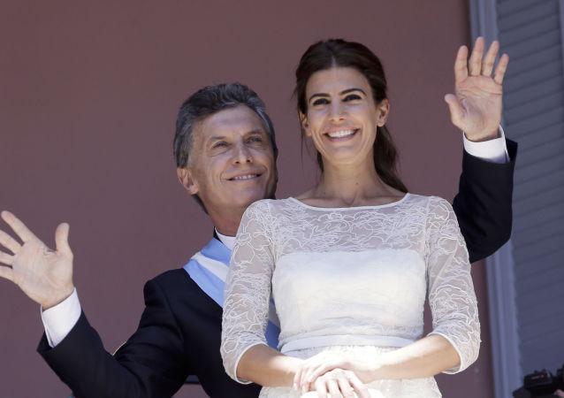 السيدة الأولى جوليانا أوادا، زوجة الرئيس الأرجنتيني ماوريسيو ماركي، 2015