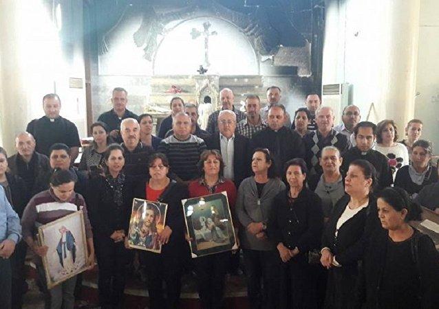 أول قداس للمسيحيين بعد الخلاص من داعش