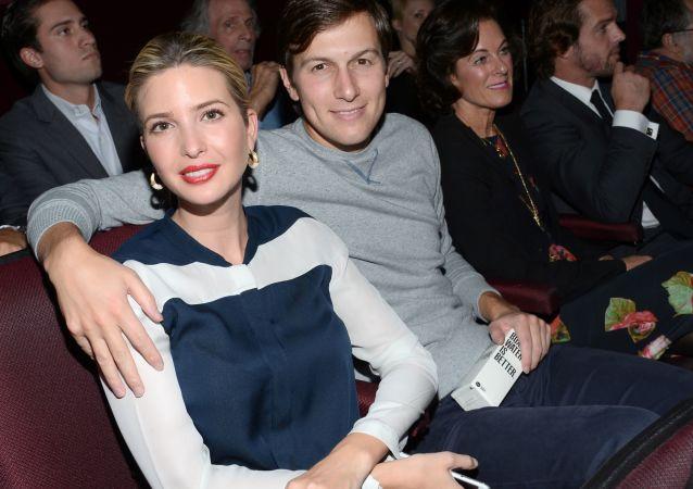 إيفانكا ترامب وجارد كوشنير في دار سينما بنيويورك، 14 أكتوبر/ تشرين الأول 2014