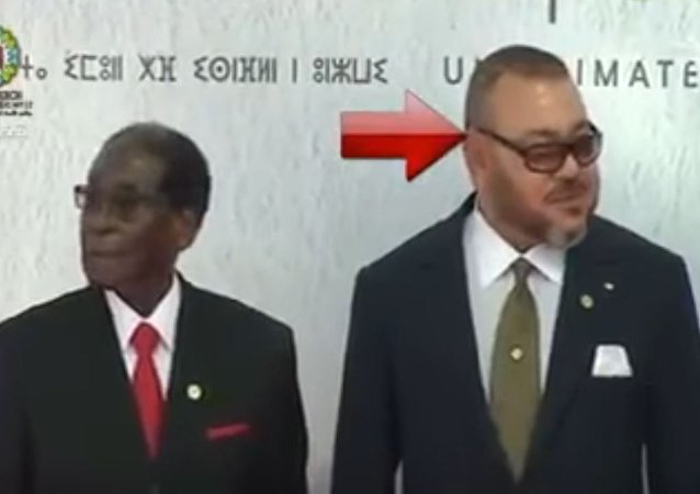 ملك المغرب ورئيس زيمبابوي