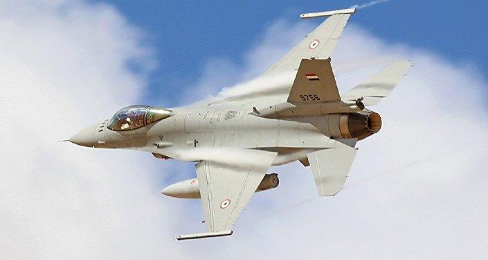 مقاتلة مصرية تشارك في المناورات