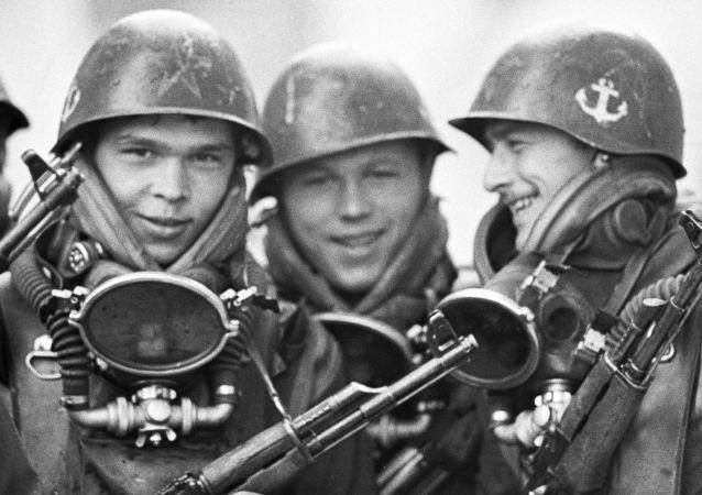 جنود المشاة في البحرية السوفيتية