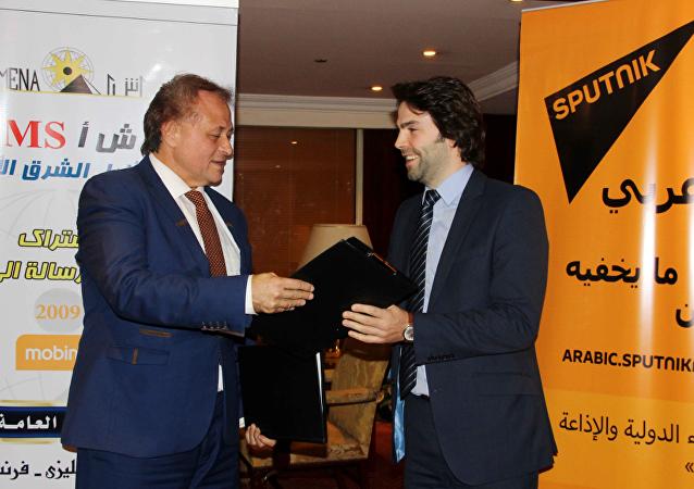 سبوتنيك توقع اتفاقية تعاون مع وكالة أنباء شرق الأوسط