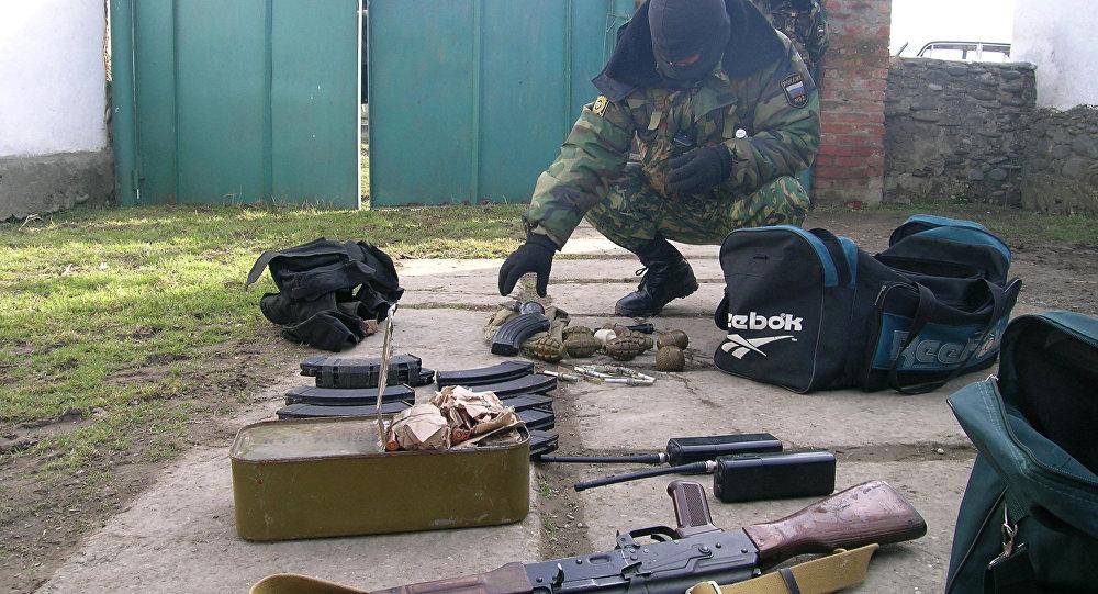 مصادرة أسلحة لجماعات ارهابية في داغستان