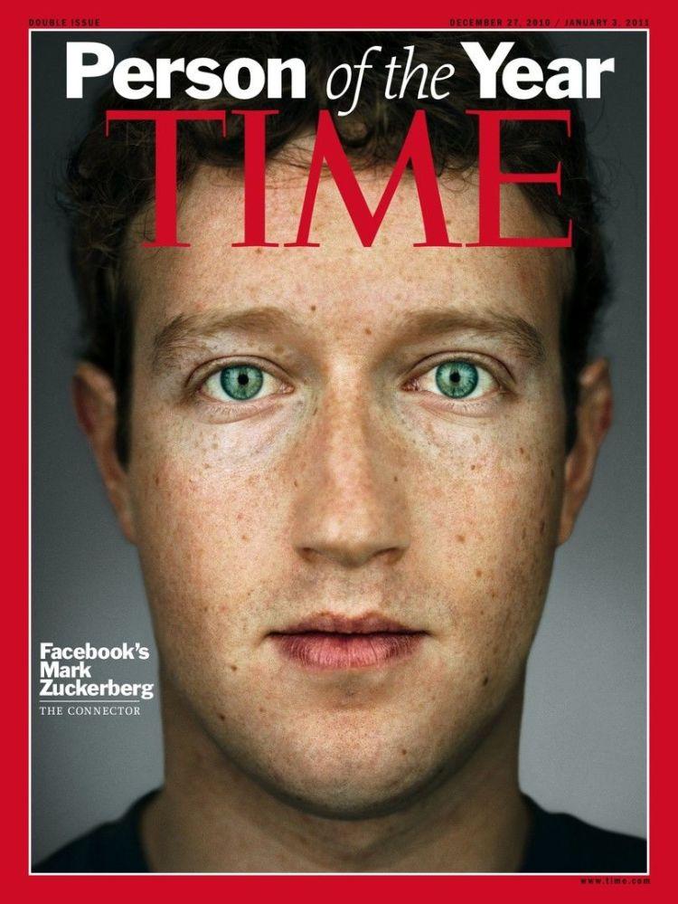 رجل العام لعام 2010 - مؤسس الفيسبوك مارك زوكربيرغ