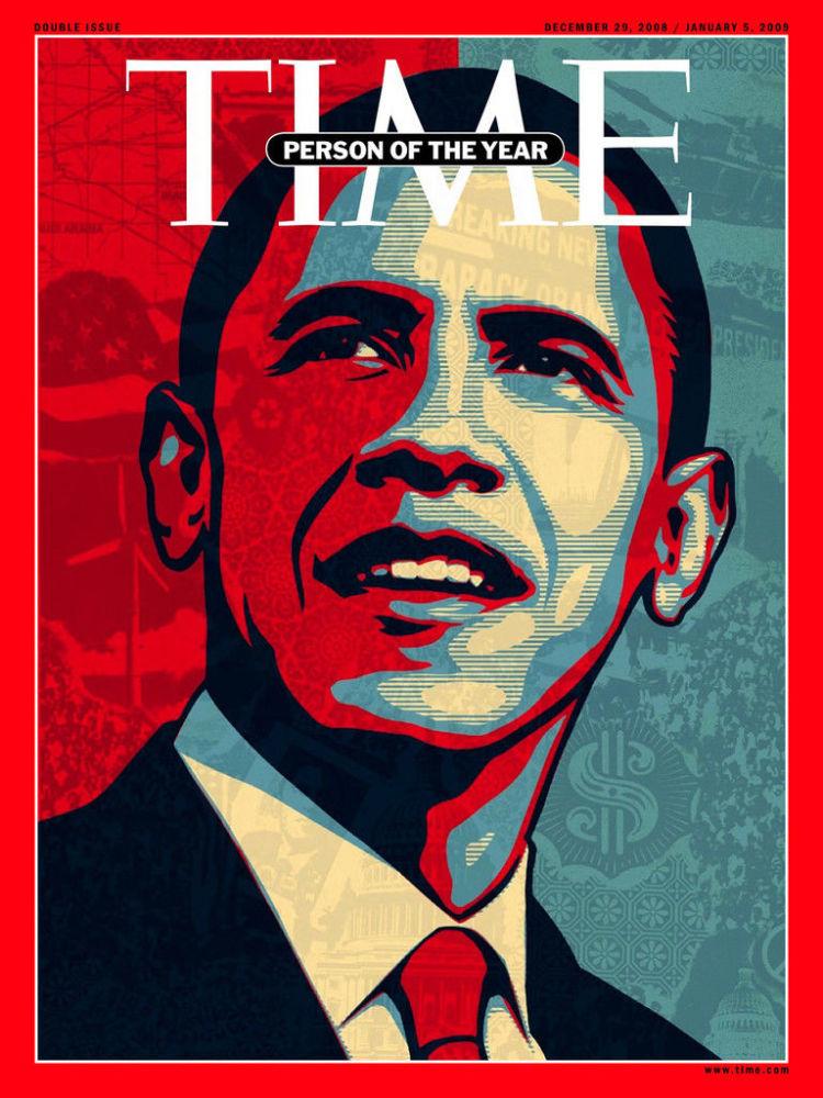 رجل العام لعام 2008 - الرئيس الأمريكي باراك أوباما