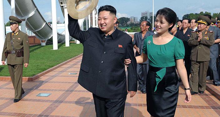 كيم جونغ وزوجته
