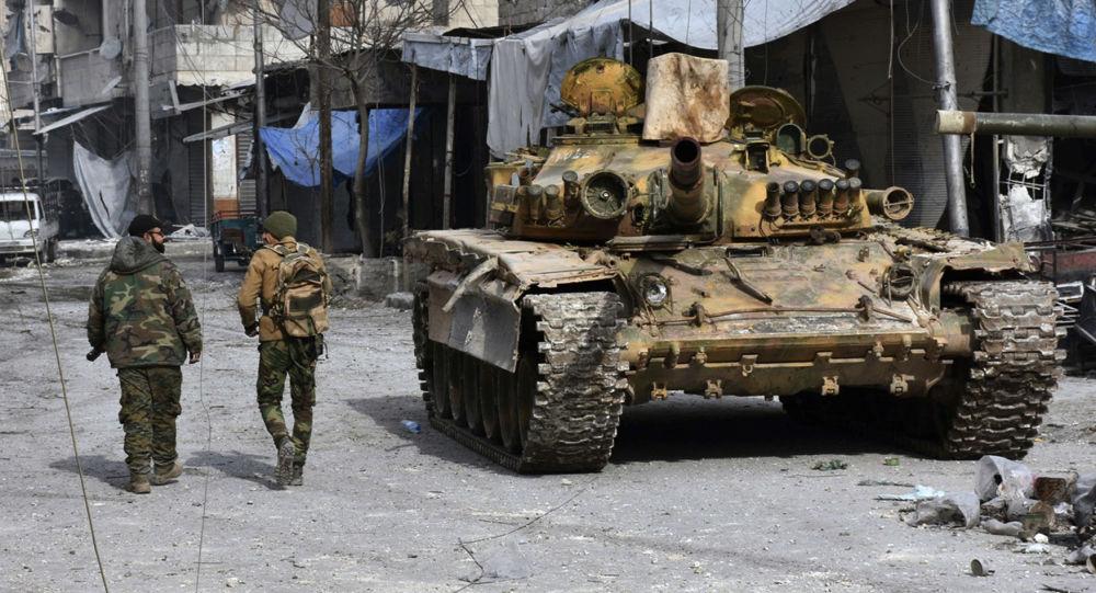 قوات الجيش السوري في شرق مدينة حلب، 12 ديسمبر/ كانون الأول 2016