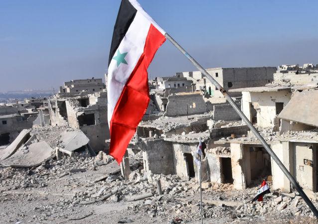 مشهد يطل على دمار حي الشيخ سعيد بمدينة حلب، 12 ديسمبر/ كانون الأول 2016