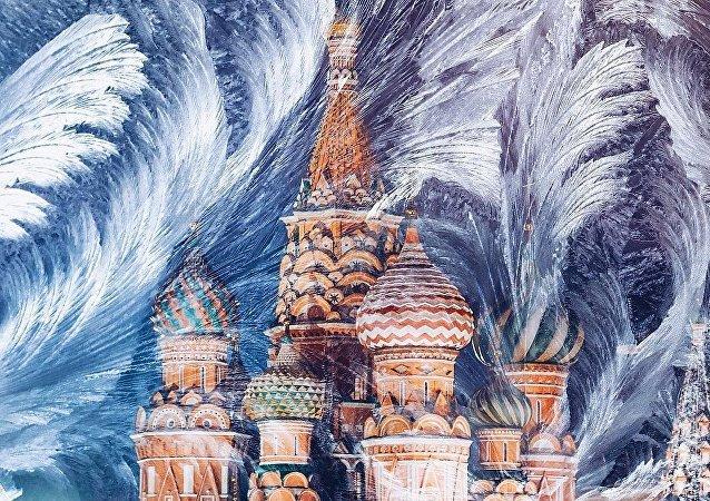 موسكو خلال تساقط الثلوج الكثيفة