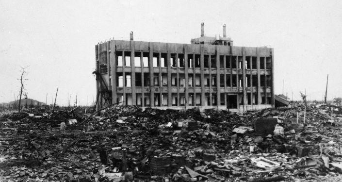 هيروشيما بعد إلقاء القنبلة الذرية عليها