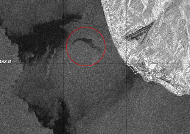 صورة لمكان سقوط طائرة تو-154