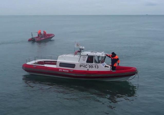فريق الإنقاذ والبحث عن الطائرة المنكوبة-154 في البحر الأسود