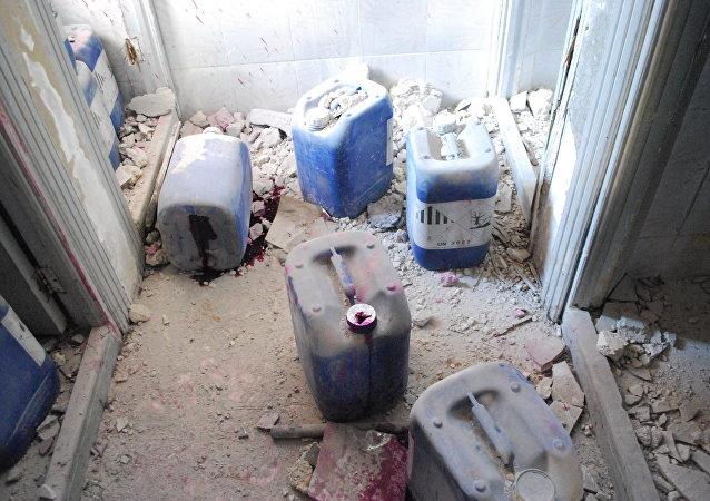 سبوتنيك تكشف حقيقة المواد الكيماوية التي استخدمها المسلحون في حلب
