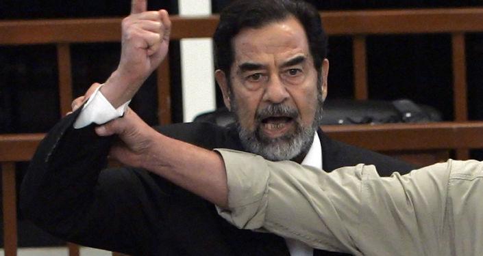 Former Iraqi President Saddam Hussein simulated, November 5, 2006