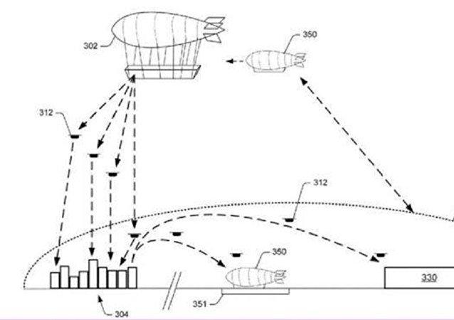 مستودعات للبضائع في السماء أخر خطط شركة أمازون