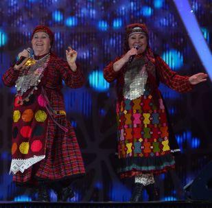 Участницы фольклорного коллектива Бурановские бабушки