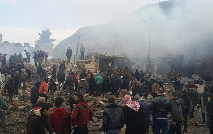 بالفيديو... انفجار ضخم يضرب معبر على الحدود السورية التركية