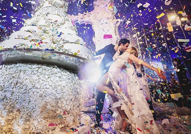 حفل زفاف لبناني يشعل السوشيال ميديا