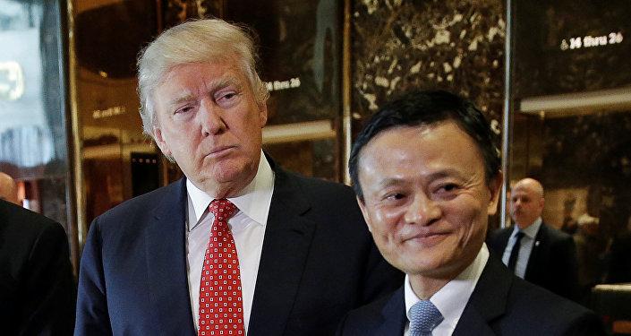 U.S. President-elect Donald Trump and Alibaba Executive Chairman Jack Ma