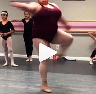 راقصة باليه من الوزن الثقيل