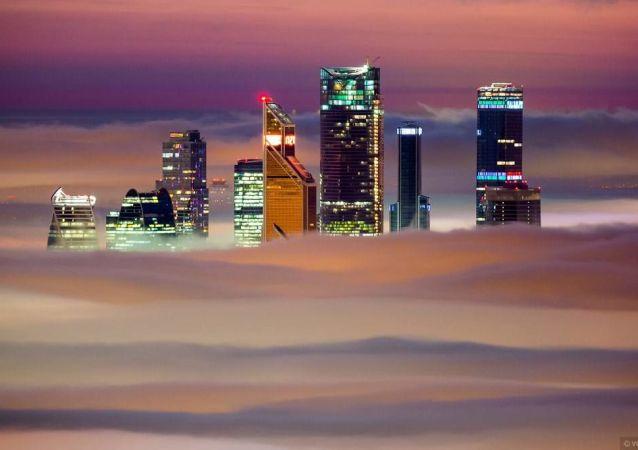 ناطحات السحاب موسكو-سيتي وسط العاصمة